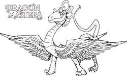 Dragon Master Coloring Pages
